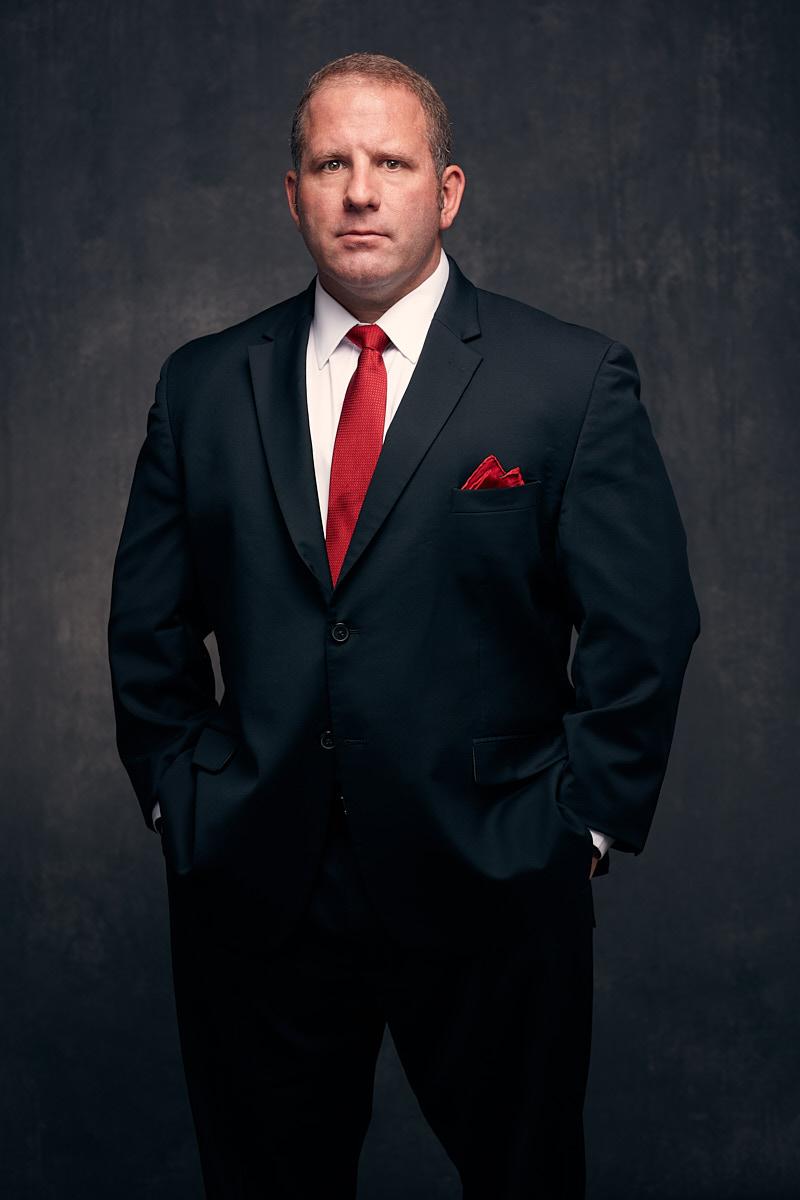 Professional Corporate Headshots of Dallas Texas Businessman in Studio