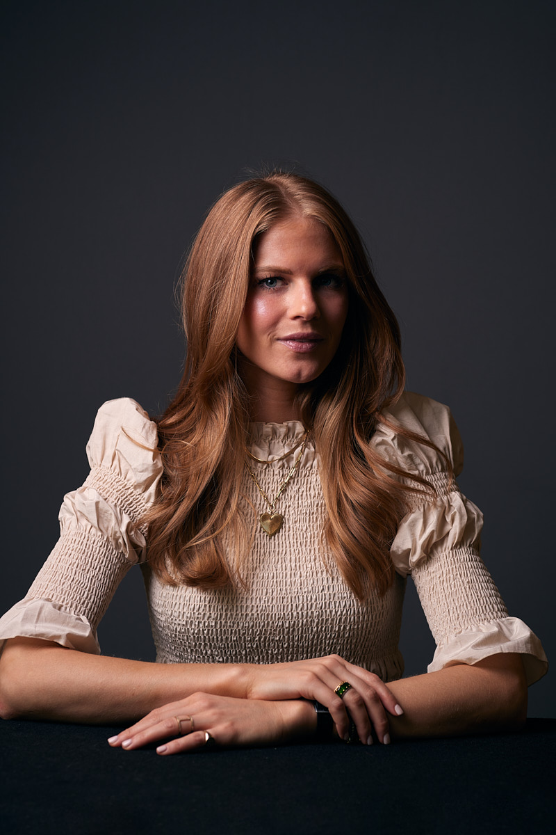 Modern Dallas Headshots \ Headshots of Red-Head Woman at Talent Management Agency