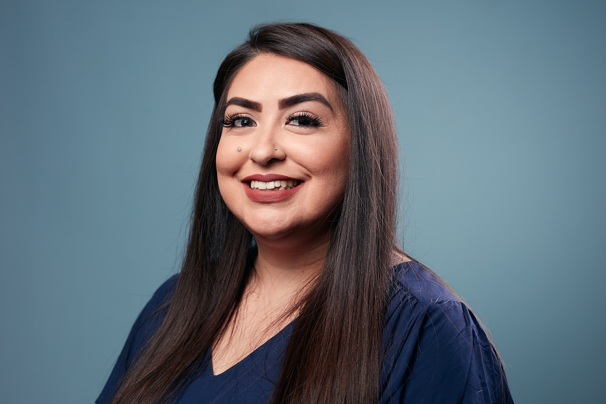 Modern Headshots of Woman at Texas Healthcare Financing Company