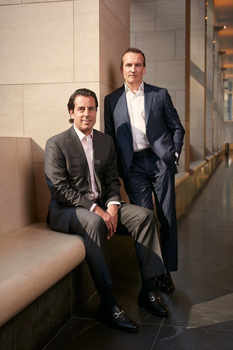 Casual Business Portraits of Goldman Sachs Partners in Headquarters Lobby New York City