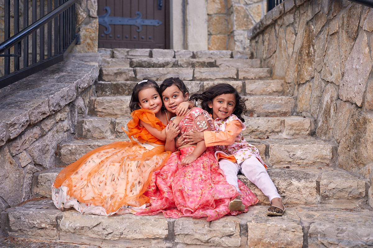 Cute Kids Photography of group of kids hugging at Adriatica Village McKinney, Texas