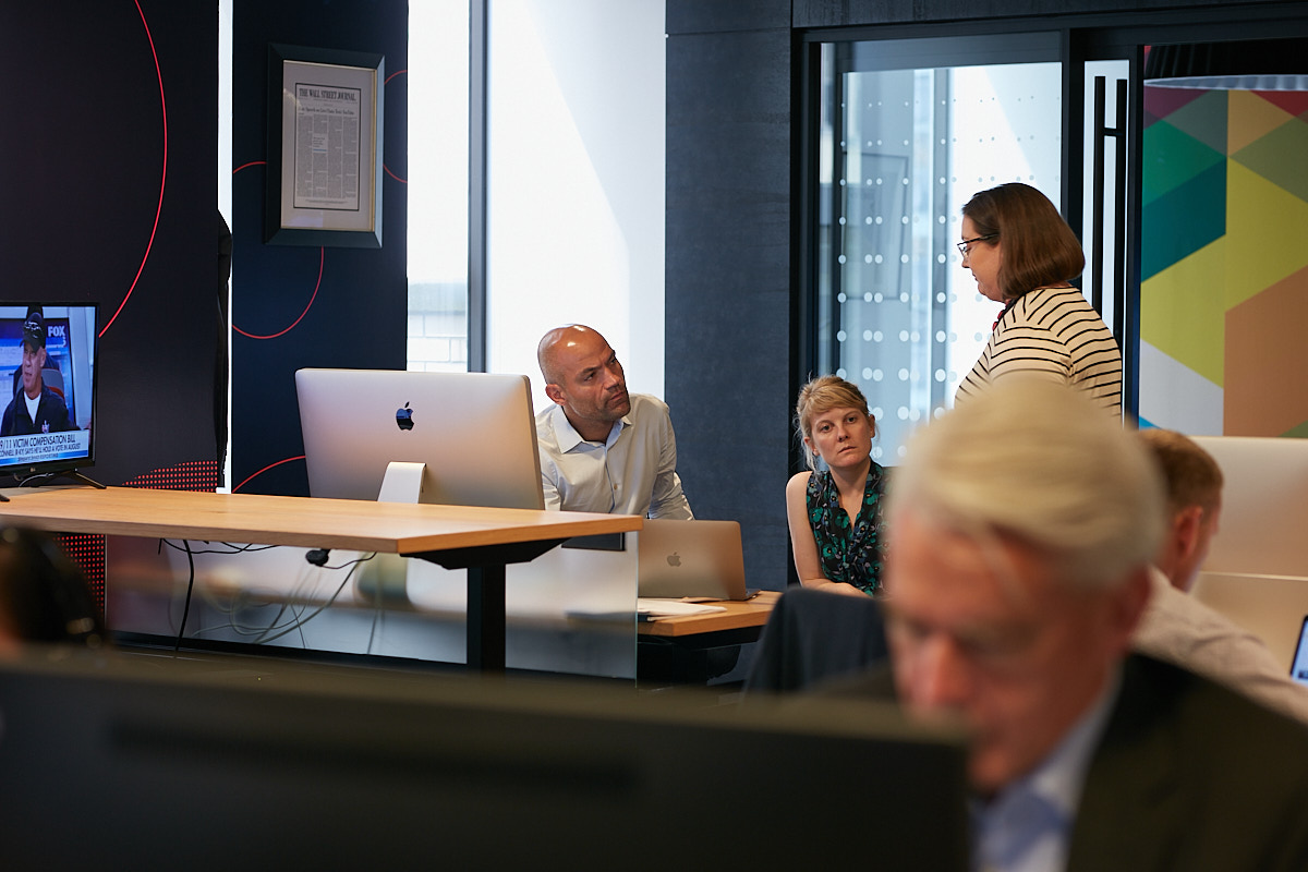 Interior Photography of Executive Meeting in NYC Office of Storyful