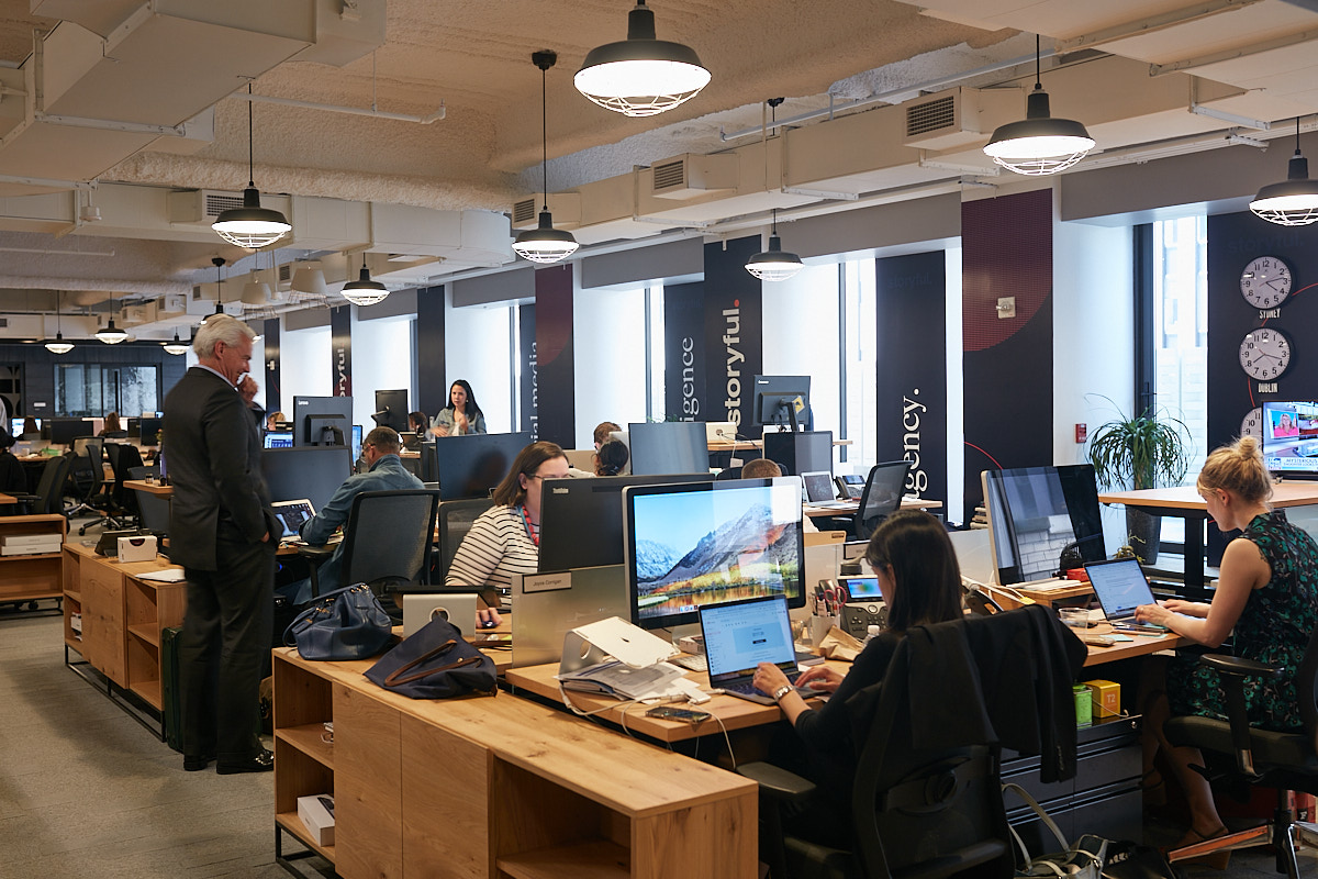 Interior Photography of People Working at Storyful Midtown Office NYC