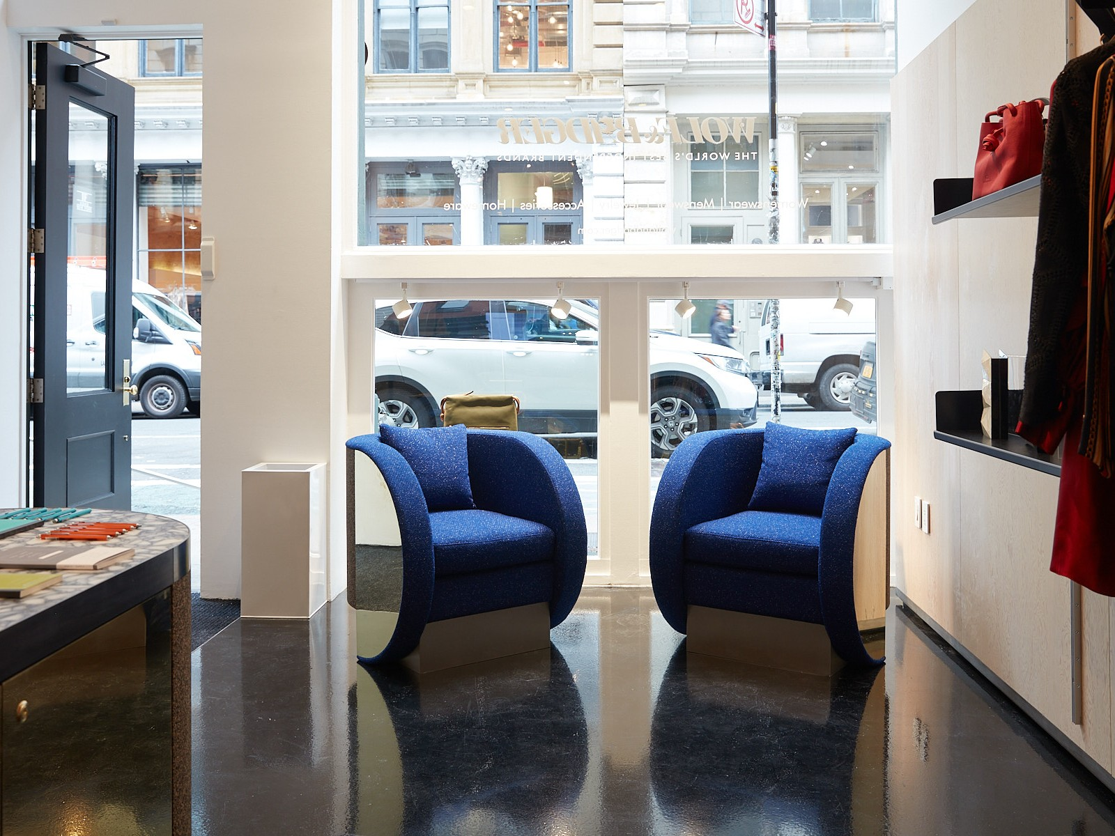 Interior Photography of Wolf & Badger's Redesigned Store, Soho NYC